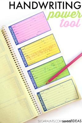 Transfer paper for spacing awareness, letter formation, line awareness, pencil pressure