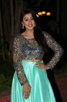 Nikki Galrani in Green Skirt  Top at Marakathamani music launch ~  Exclusive (20).JPG