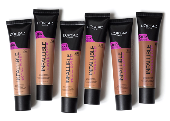 L'Oreal Infallible Total Cover foundation Review Photos 307 308 309 310 311 312