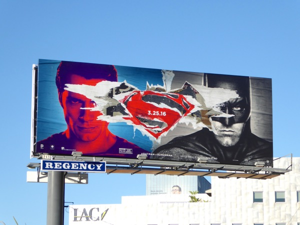 Batman v Superman Dawn of Justice movie billboard