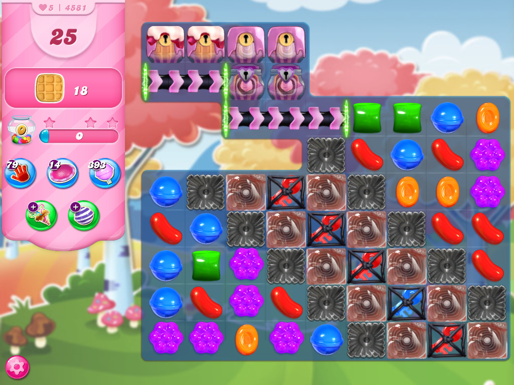 Candy Crush Saga level 4581
