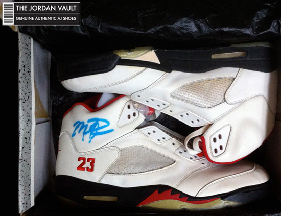 c3150460abd6 Nike Air Jordan V White Black-Fire Red Original Michael Jordan Player  Exclusive