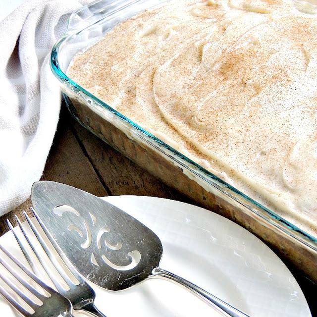 Dessert - Cinnamon Roll Poke Cake