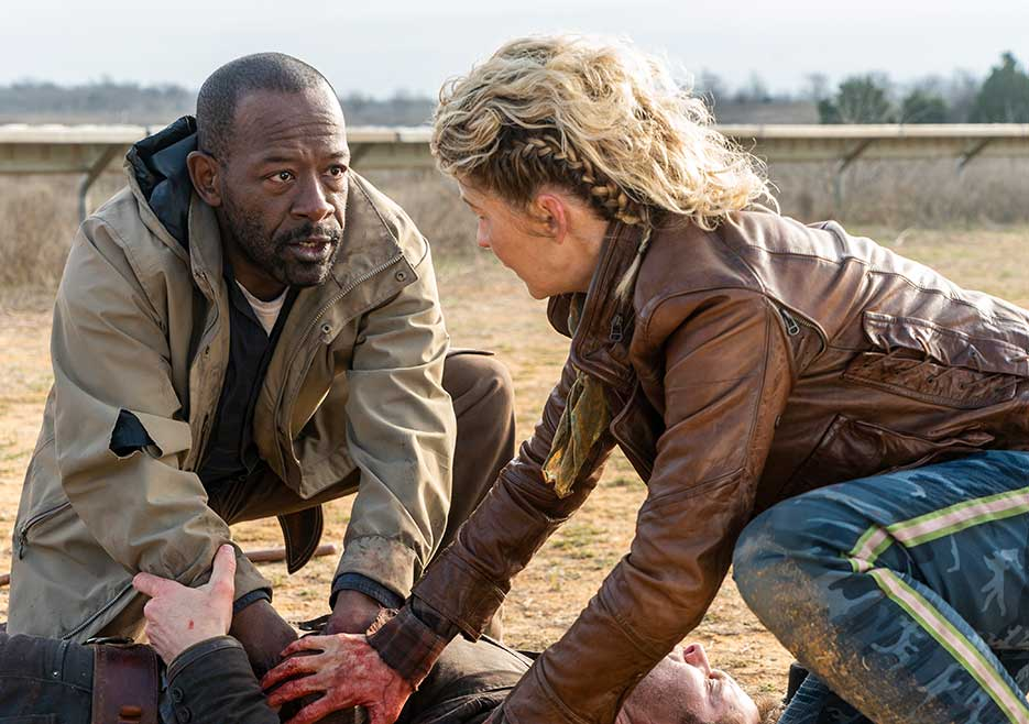 Morgan y Naomi, en el episodio 4x07 de Fear The Walking Dead