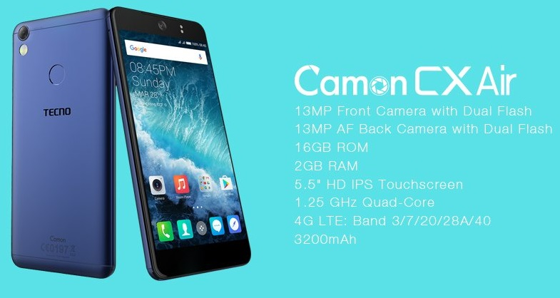 Tecno Camon CX Air - Features, Specifications, Pros and Cons - GET-D