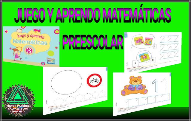 JUEGO Y APRENDO MATEMÁTICAS-PREESCOLAR