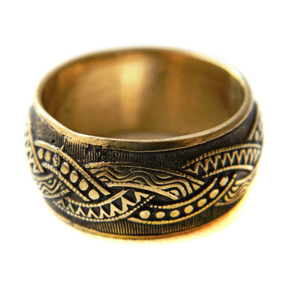 купить кольцо с плетенкой орнаментом косичкой кельтским узором