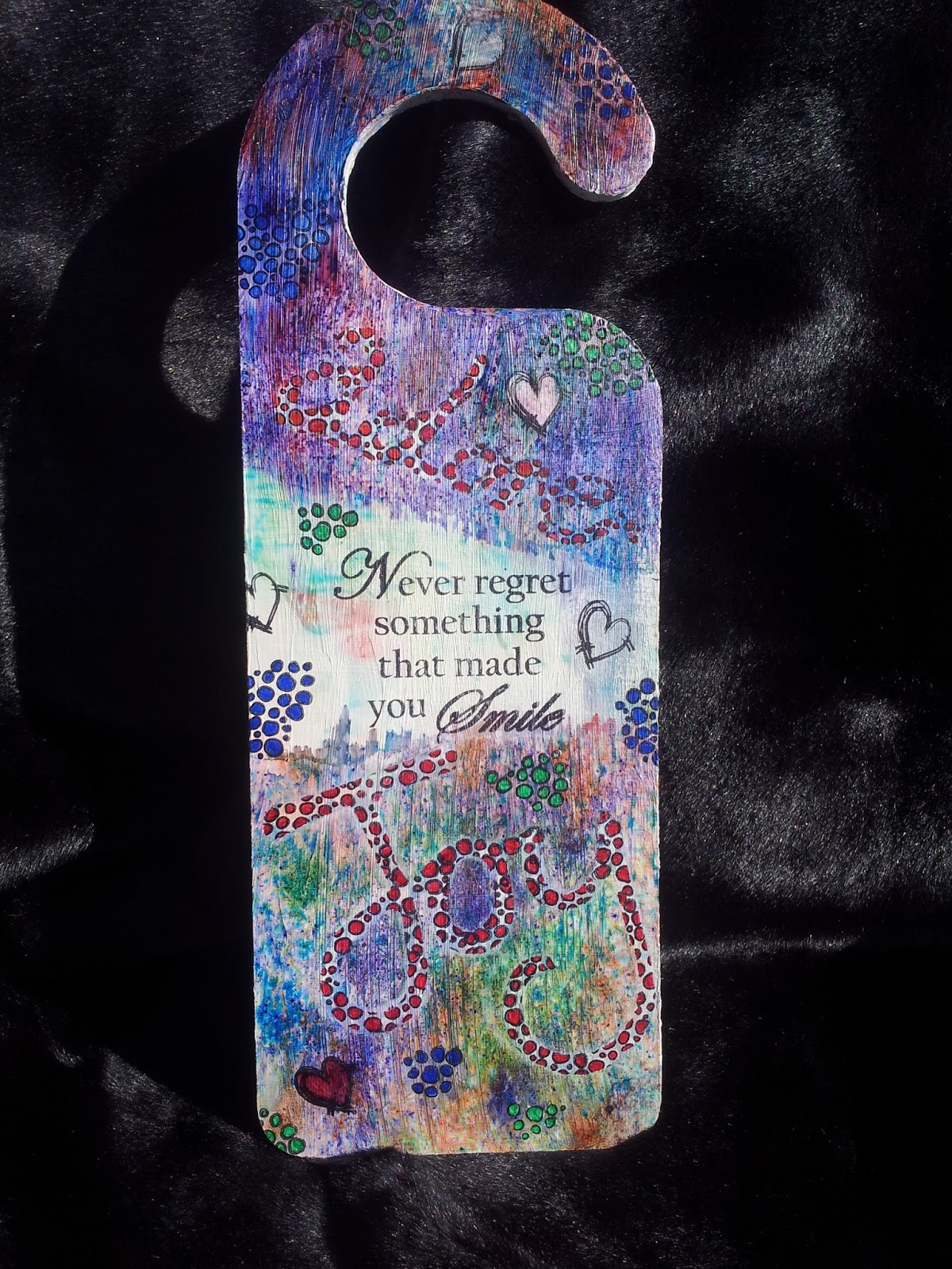 Today I am sharing the Door Handle s&le I made for the launch of Leonie Pujolu0027s new collection. & Barnsley Crafter: Funky Door Hanger Using Leonieu0027s Collection