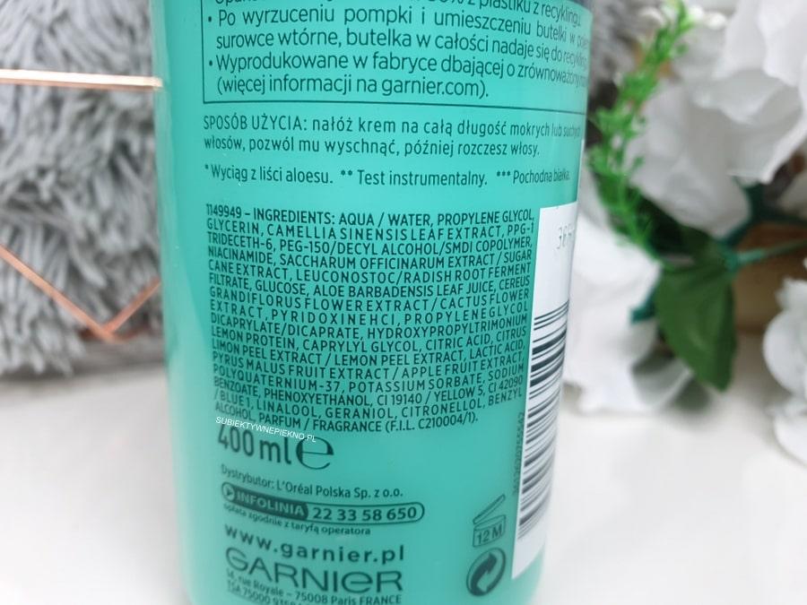 Aloe Air Dry Cream Garnier Fructis krem bez spłukiwania skład