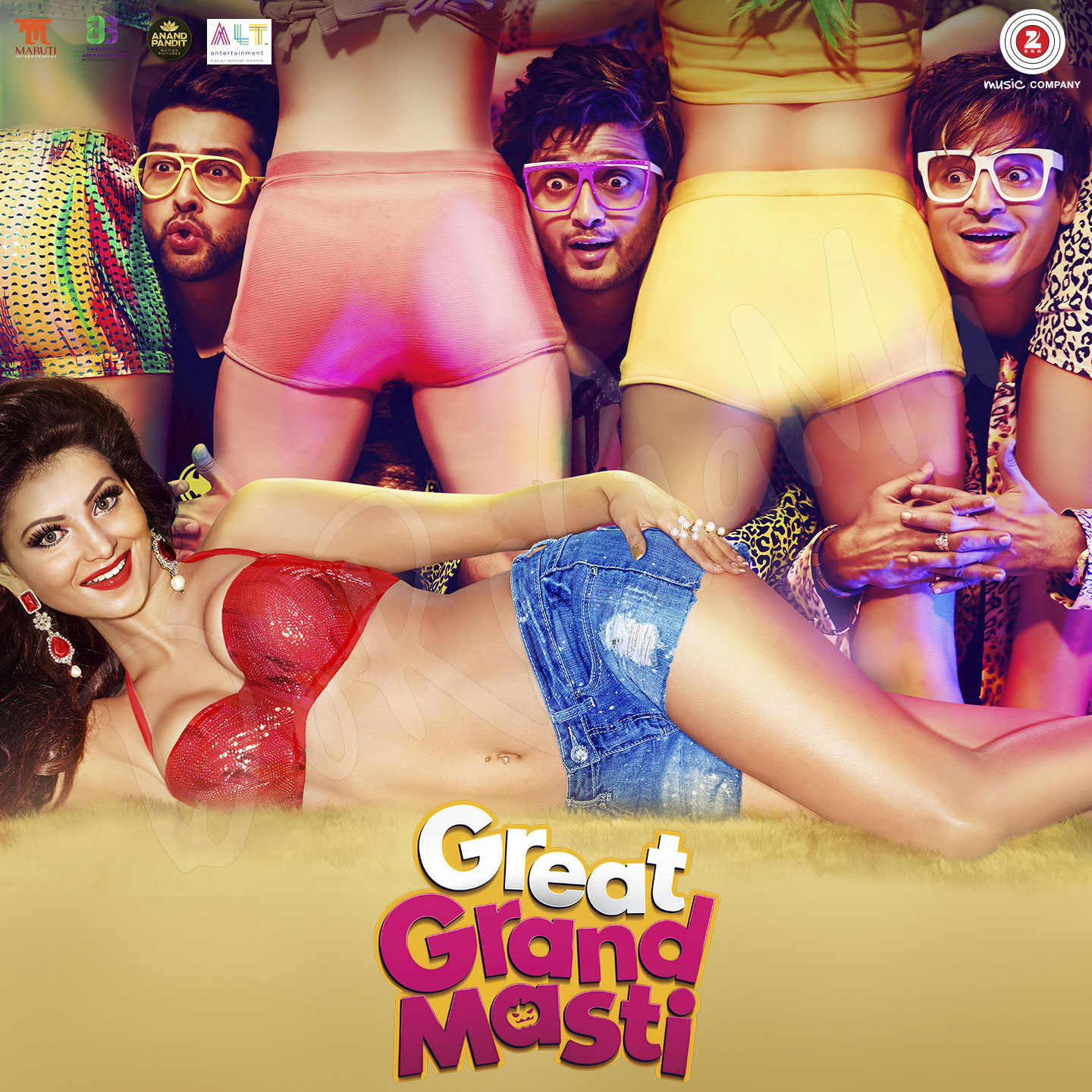 Great Grand Masti (2016) Original CD FRont Cover Poster wallpaper HD