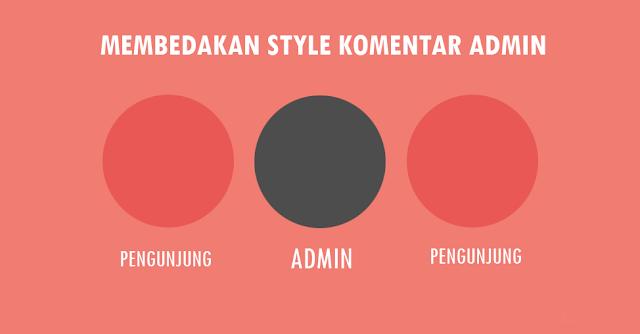 Membedakan Style Komentar Admin