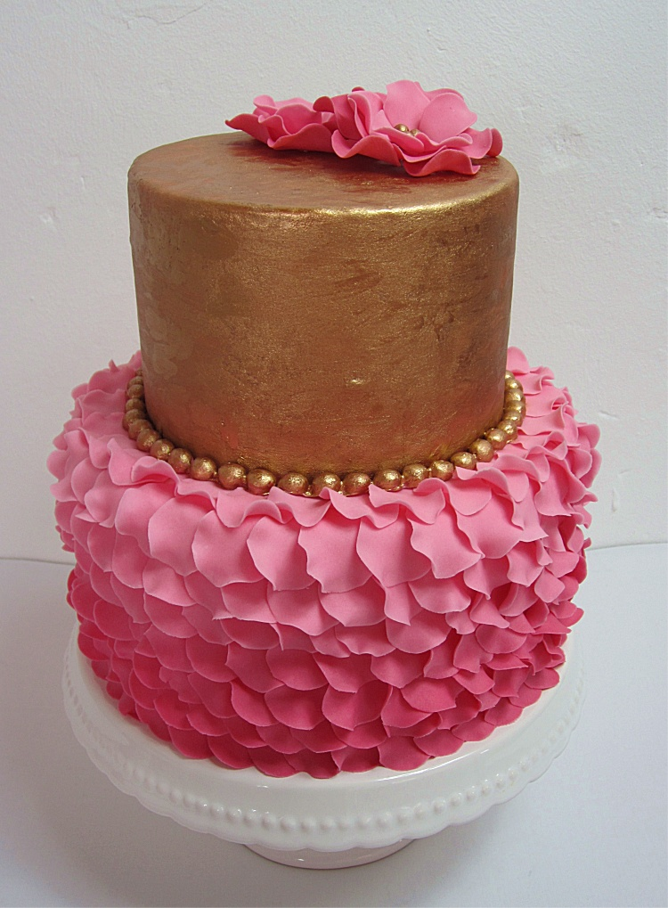 DIY/Tutprial Petal Cake/Blütentorte/Torte mit Blütenblättern