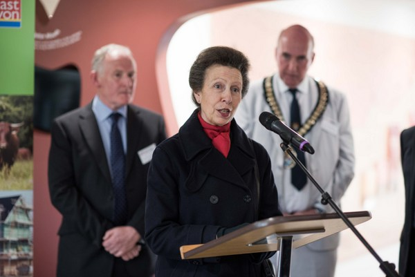 Princess Royal giving her address at Seaton Jurassic - Photo copyright Matt Austin/Devon Wildlife Trust (All rights reserved)