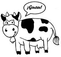"""Vaca diciendo """"guau"""""""