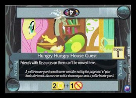 My Little Pony Hungry Hungry House Guest Canterlot Nights CCG Card