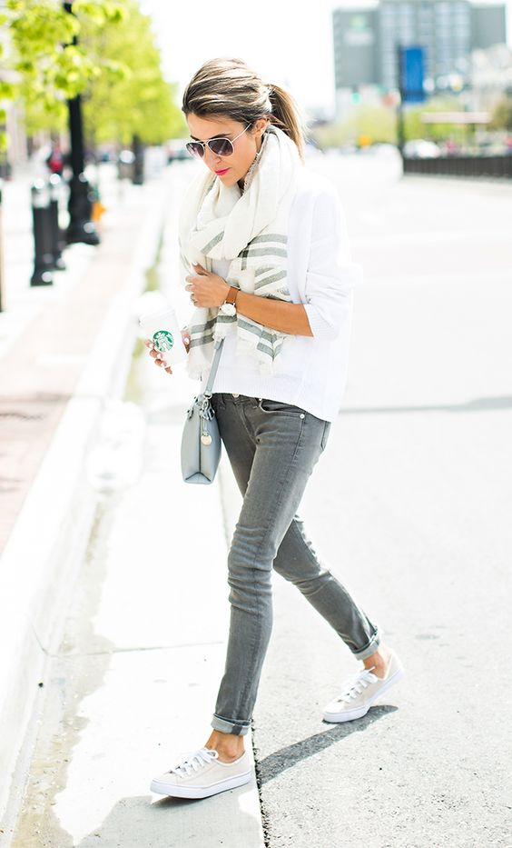 6 Ways to Wear a Pair of White Sneakers