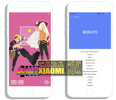 Link Download Theme MIUI Boruto V2 Mtz For Xiaomi Update Version