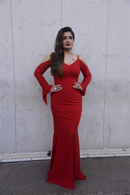 Actress Raveena Tandon Hot In Red Dress Photos 2017   Actress Raveena Tandon very spicy photos 2017