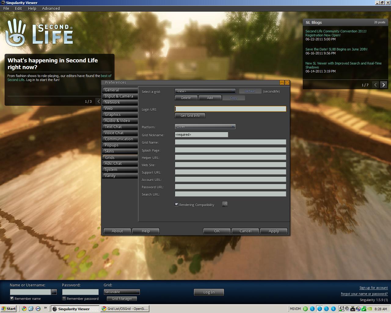 The Virtual World Technologist: Open Sim ~ OSgrid