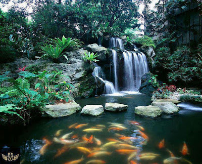 air terjun buatan - ketenangan dan kedamaian relaks minda