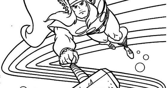Desenho Do Thor Para Pintar Vingadores Espaco Educar Desenhos