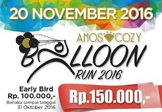 Balloon Fun Run 5K Jakarta amoz cozy hotel melawai darmawangsa