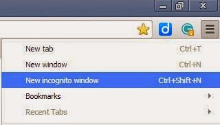 how to put google chrome in incognito mode