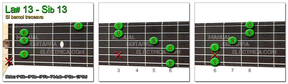 Acordes Guitarra Si Bemol treceava