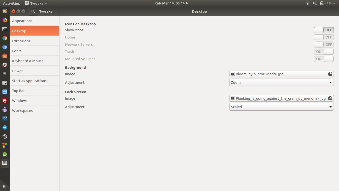 Cara Menghilangkan Icon Trash Dari Dekstop Ubuntu 17.04