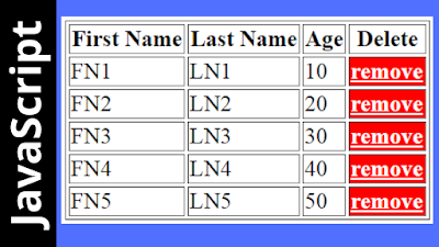 remove html table selected row in javascript