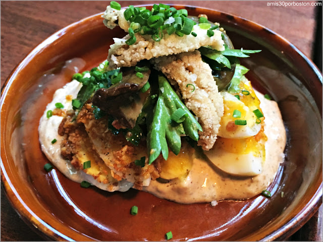 Alden & Harlow: Heirloom Eggs, House Pickles, Walnut, Crispy Boquerones – $8