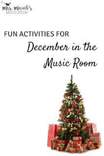 Fun activities for December in the music room: Lots of ideas for your elementary Christmas  music lessons!