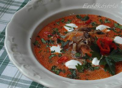 Vargányás savanyúkáposzta-leves egyszerűen