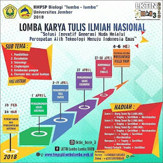 Lomba Karya Tulis Ilmiah Nasional (LKTIN) Biology Innovation and Research Competition (BORN) 3