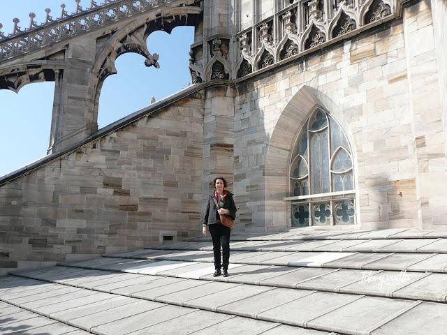 En las cubiertas del Duomo