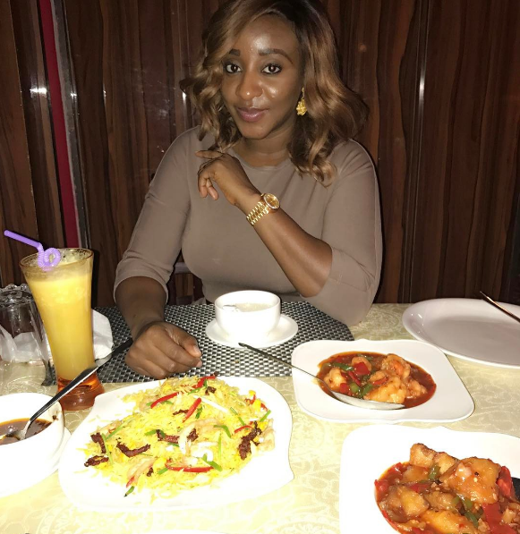 Ini Edo glows in new photo as shes goes on a dinner date
