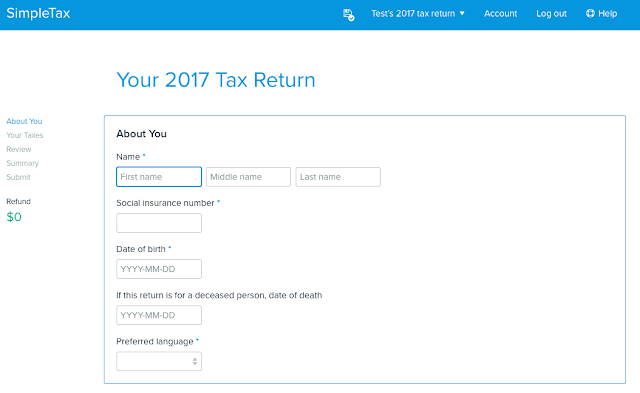 SimpleTax Tax Filing