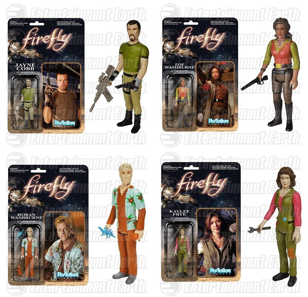 Firefly ReAction Retro Action Figures by Funko & Super7 - Jayne Cobb, Zoe Washburne, Hoban Washburne & Kaylee Frye