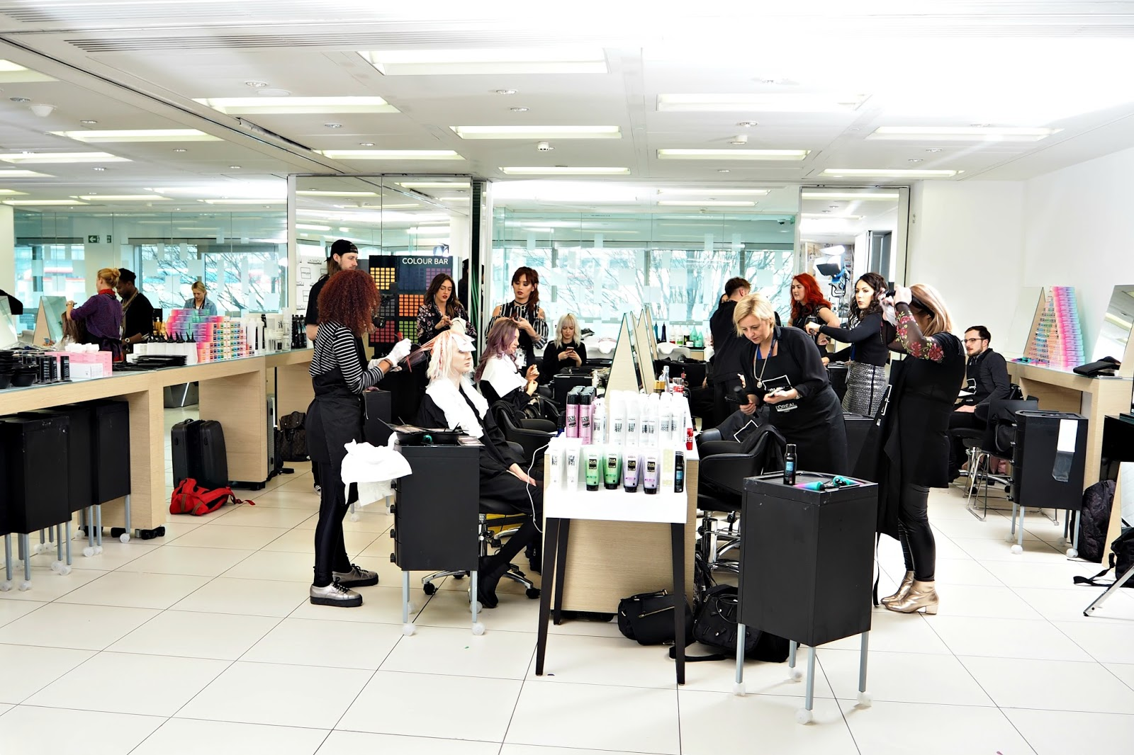 Shooting For L'Oreal Professionel's New Hair Colour Range: #MyColorfulHair, LOreal offices in Hammersmith