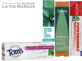 Haul de compras iHerb Vitacost pastas de dientes naturales