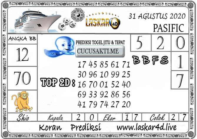 Prediksi Togel PASIFIC LASKAR4D 31 AGUSTUS 2020
