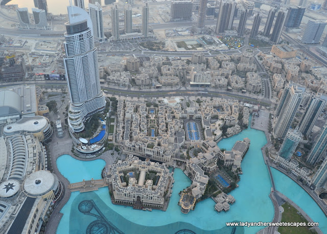 view of Downtown Dubai from Burj Khalifa