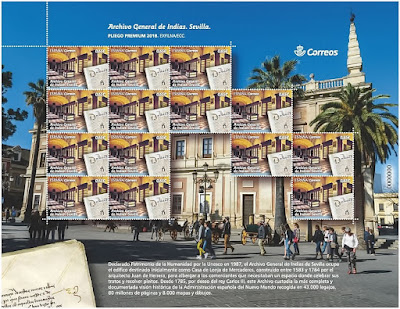 Filatelia - Archivo General de Indias - Pliego Premium - 31-10-2018