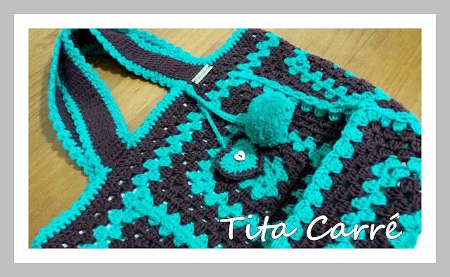 A Bolsa de Squares em crochet