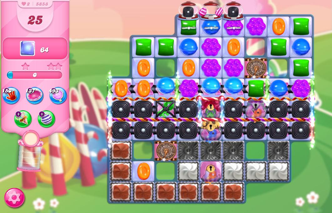 Candy Crush Saga level 5858