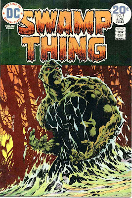 Swamp Thing v1 #9 1970s bronze age dc comic book cover art by Bernie Wrightson
