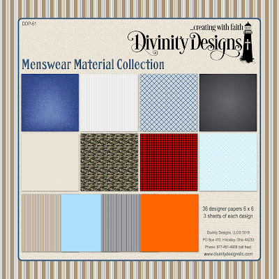 Divinity Designs Paper Collection: Menswear Material