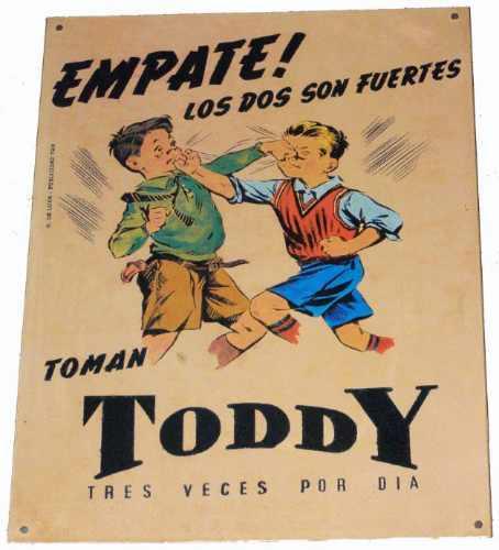 Propaganda do Toddy veiculada nos anos 50 com duas crianças brigando