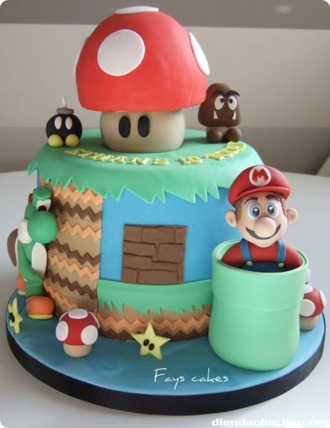 Bánh sinh nhật đặc biệt dành cho fan Mario