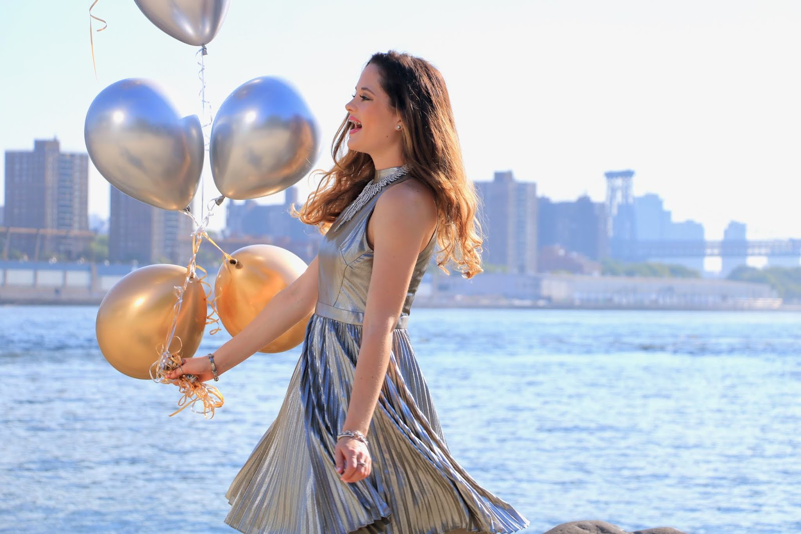 Nyc fashion blogger Kathleen Harper's birthday photo shoot in Brooklyn